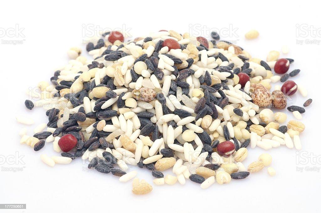Raw mixed grains royalty-free stock photo