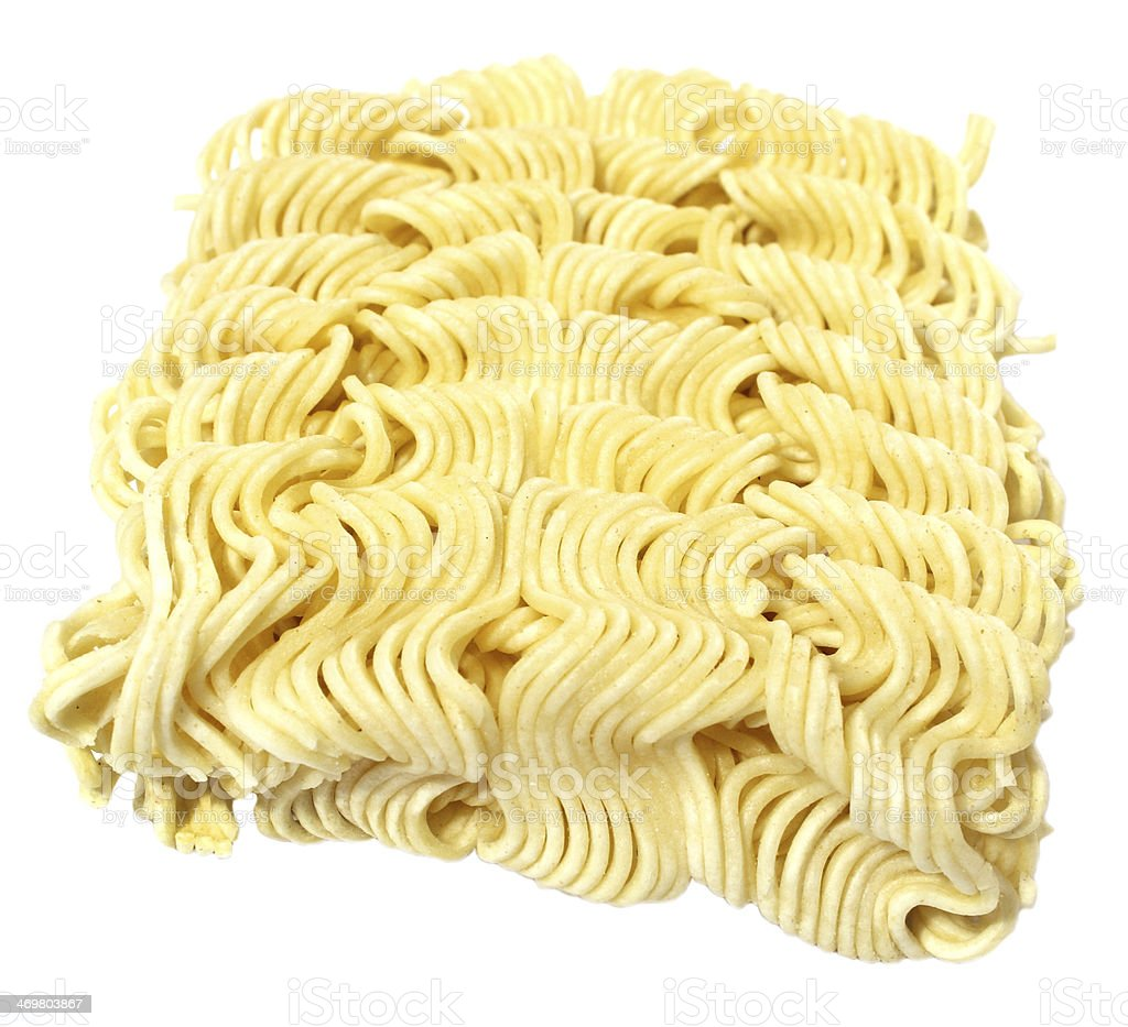 Raw Noodles stock photo