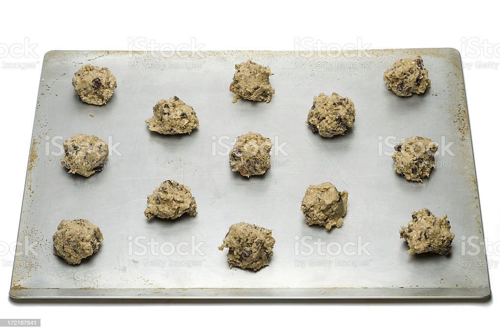 Raw oatmeal Cookies royalty-free stock photo
