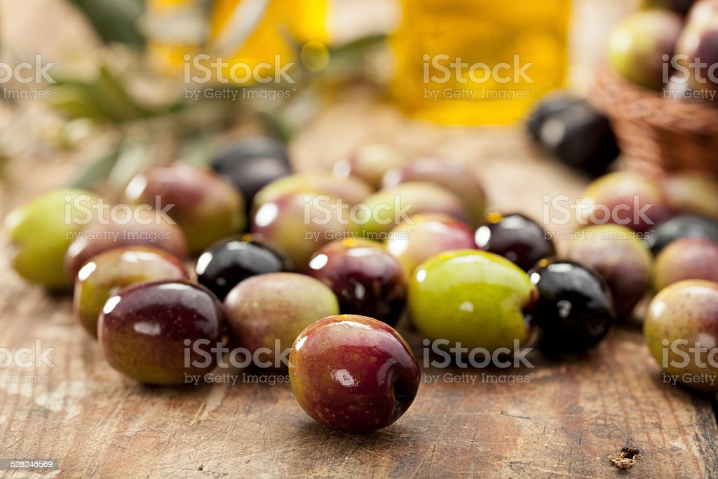 Raw Olives stock photo