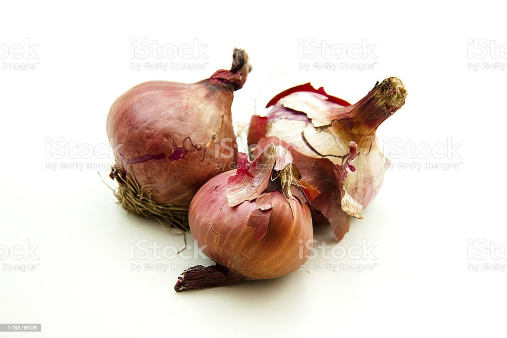 Raw onions stock photo