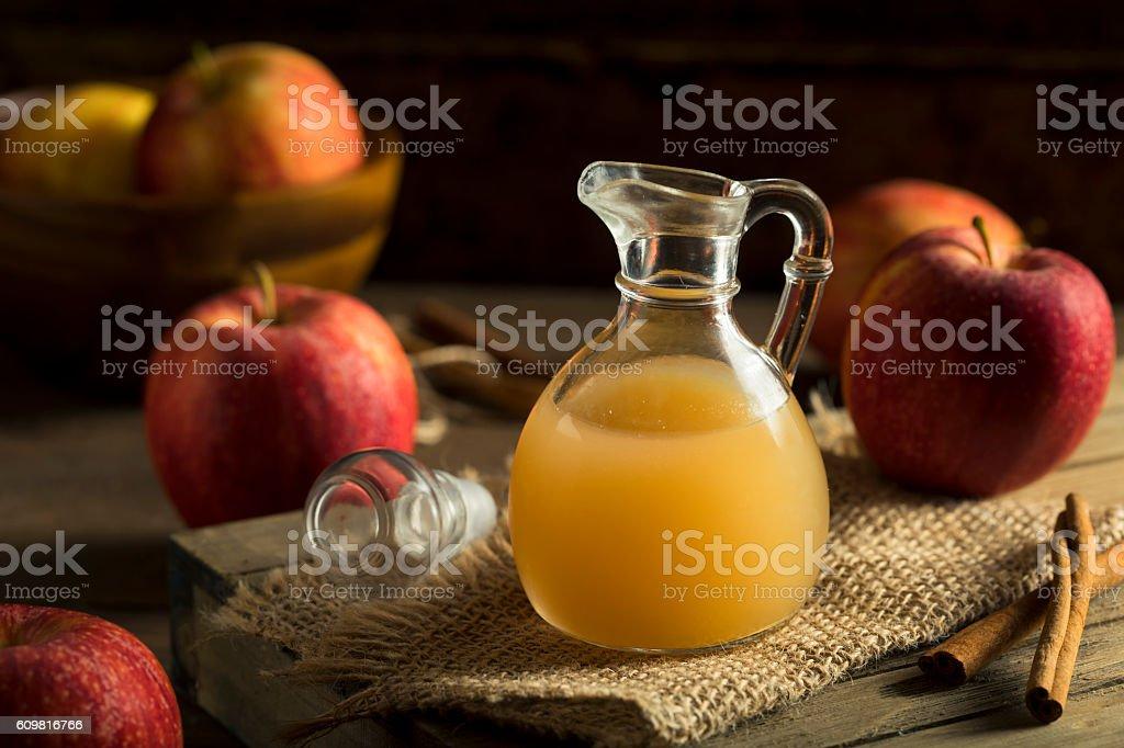 Raw Organic Apple Cider Vinegar stock photo