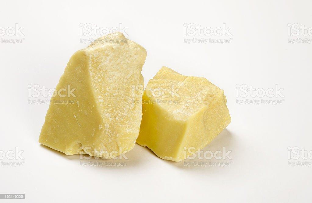 Raw Organic Cocoa Butter stock photo