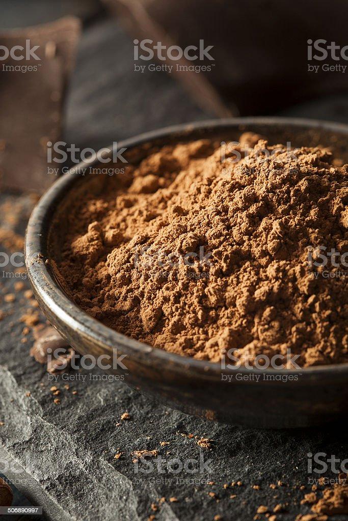 Raw Organic Cocoa Powder stock photo