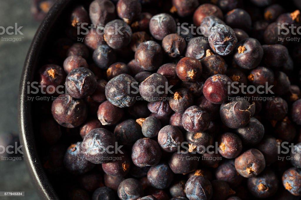 Raw Organic Juniper Berries stock photo