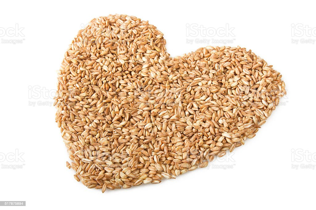 Raw Organic Spelt Grain stock photo