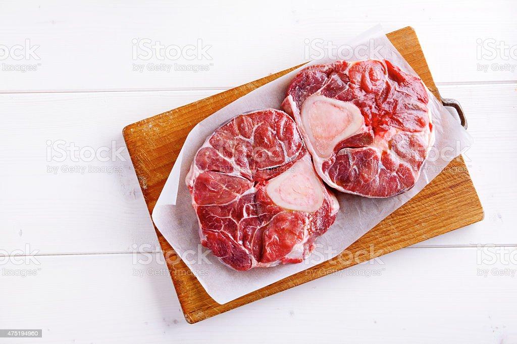 raw ossobuco stock photo