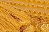 raw pasta background