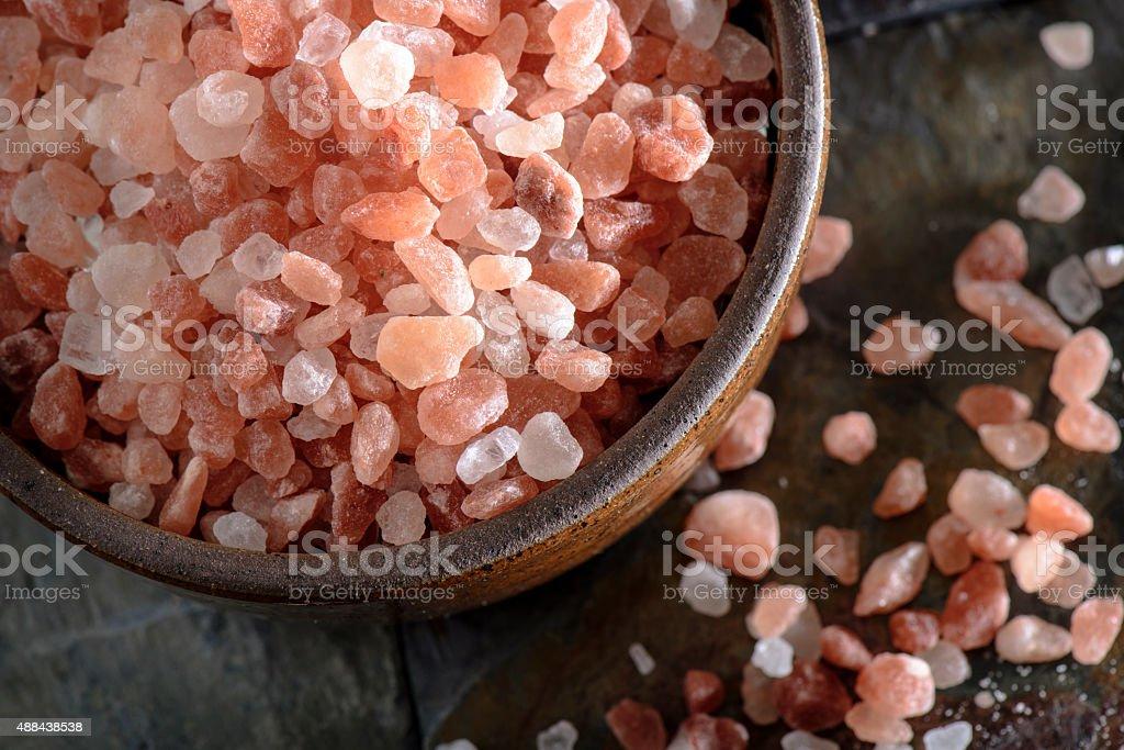 Raw Pink Himalayan Salt stock photo