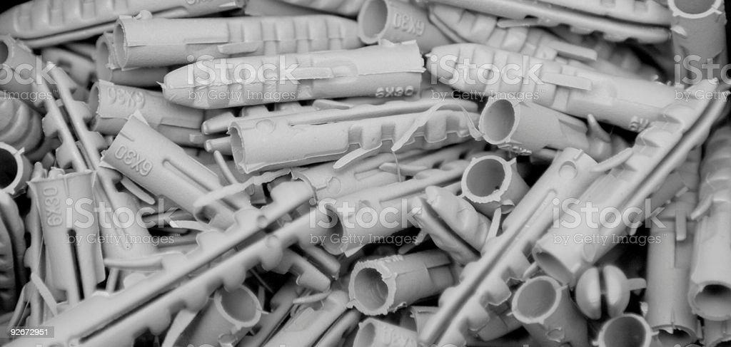 Raw plugs or wall plug royalty-free stock photo
