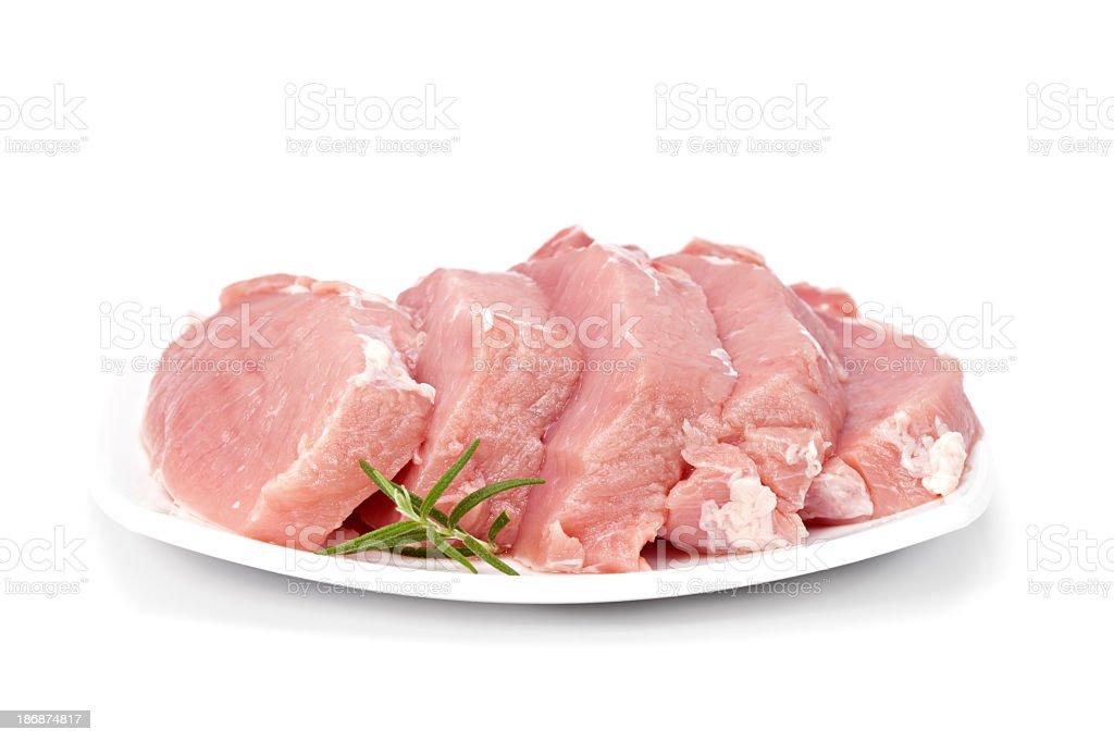 Raw pork chops royalty-free stock photo