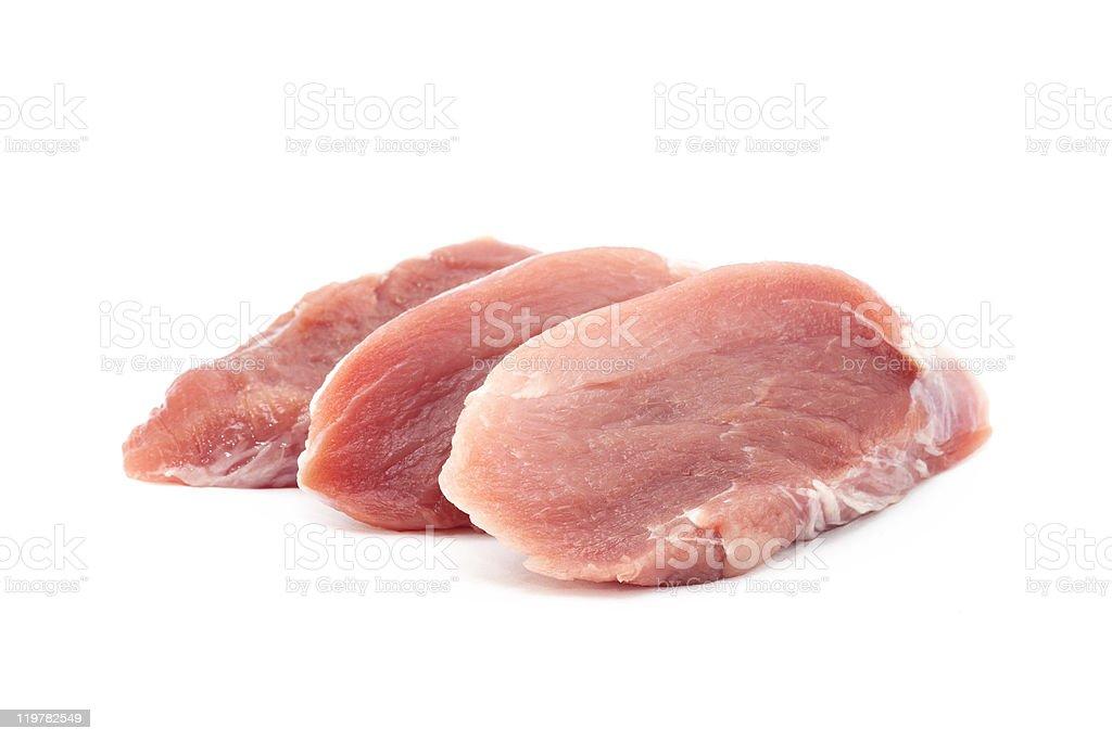 Raw pork isolated on white royalty-free stock photo