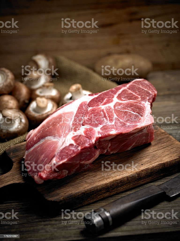 Raw Pork stock photo