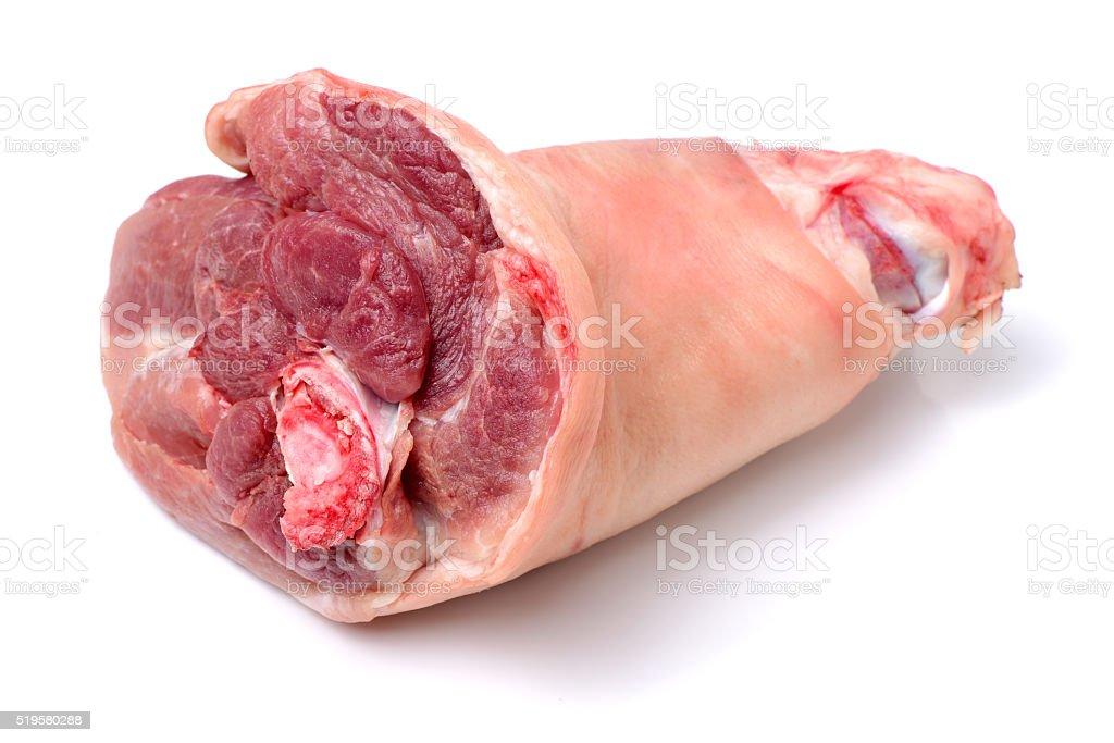 raw pork (leg) stock photo