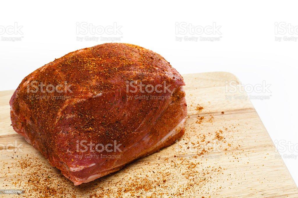 Raw Pork Shoulder royalty-free stock photo