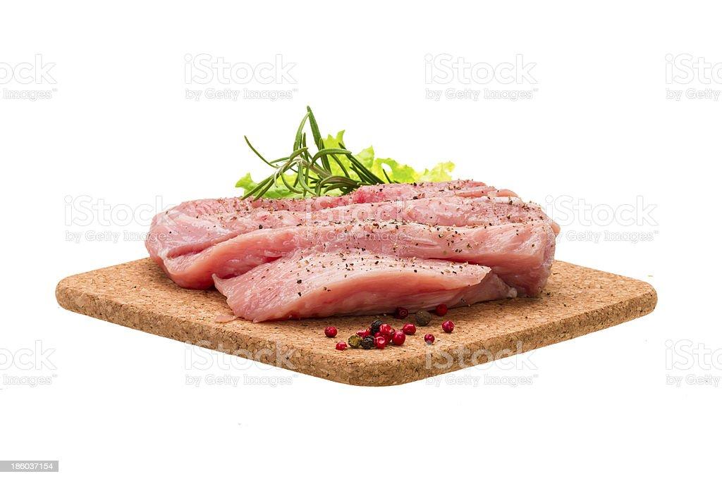 Raw pork steak royalty-free stock photo