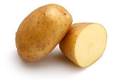 Raw Potato and half potato