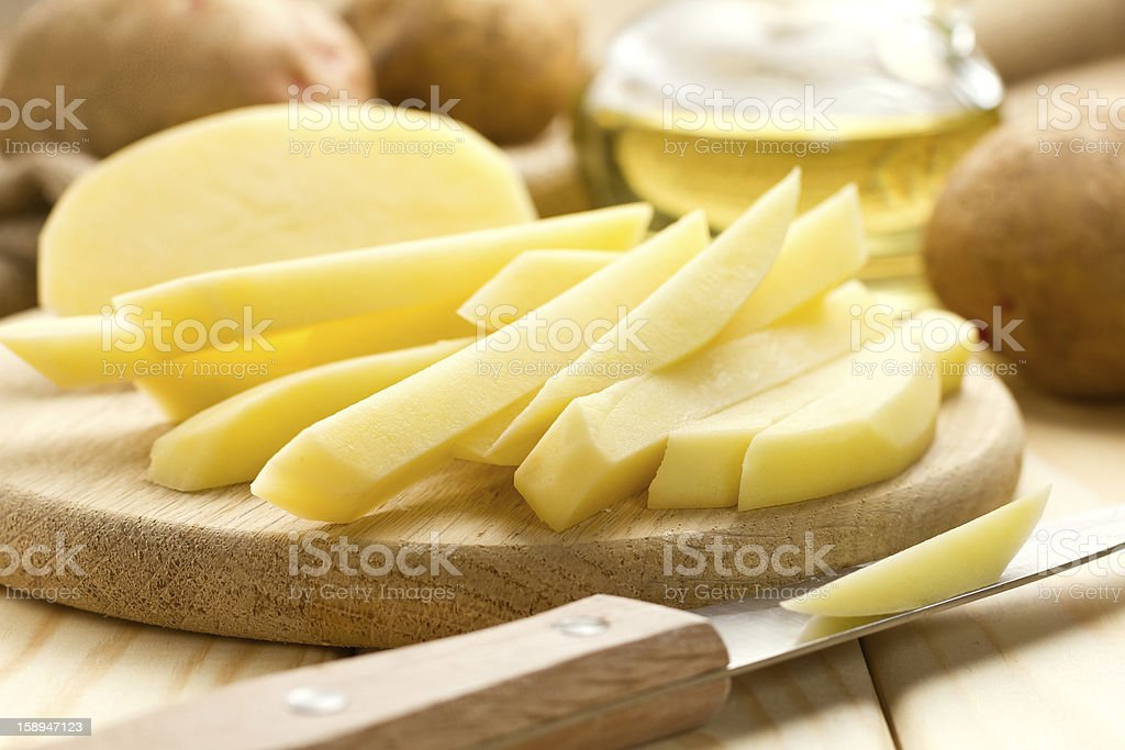 Raw potato royalty-free stock photo