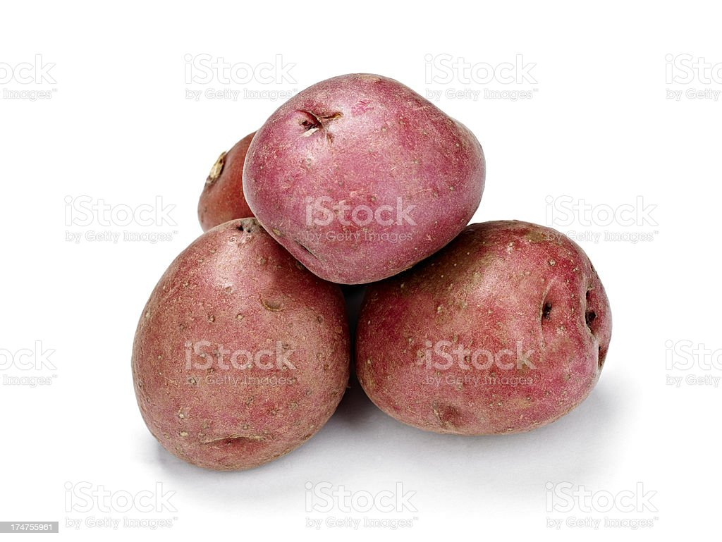 Raw Potato stock photo