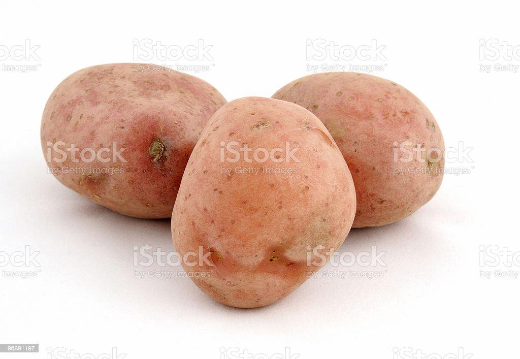 Raw potatoes royalty-free stock photo