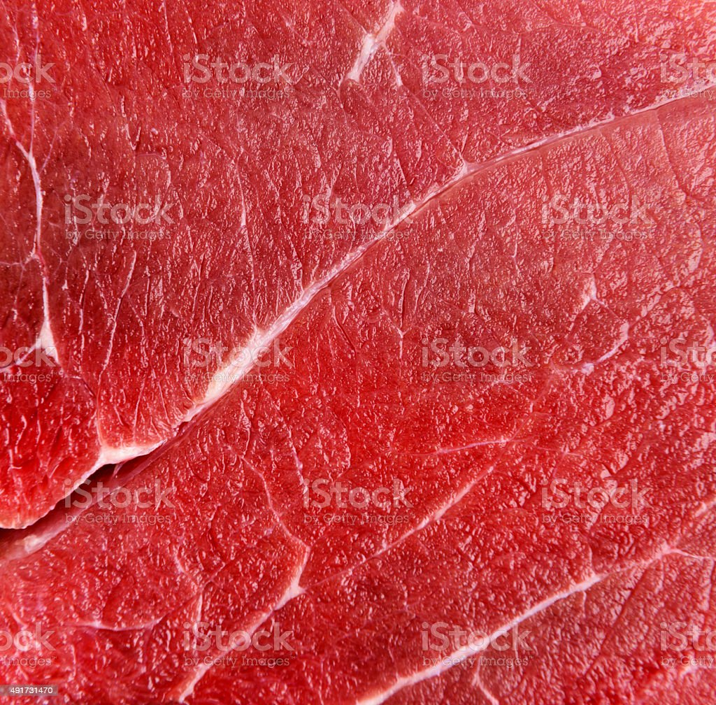 Raw red beef meat macro stock photo