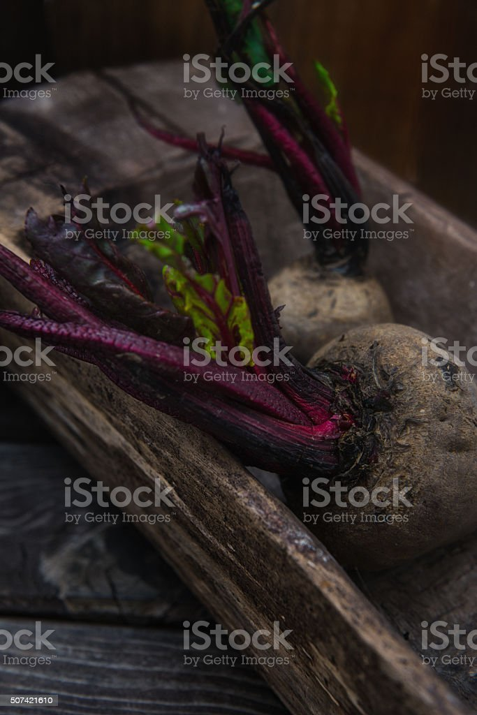 Raw red beets stock photo