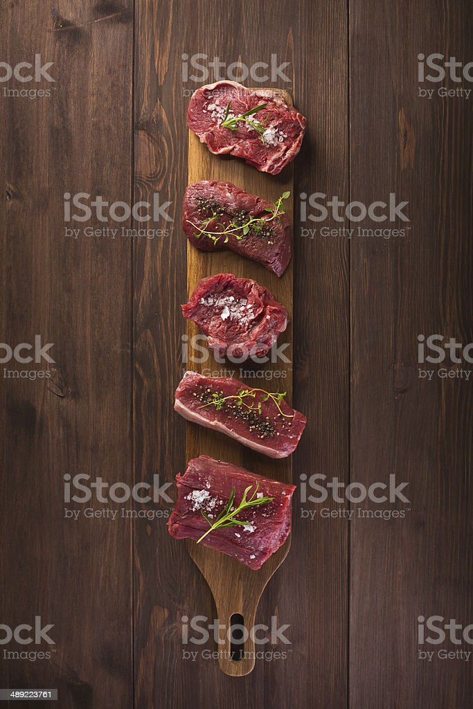 raw red meat stock photo