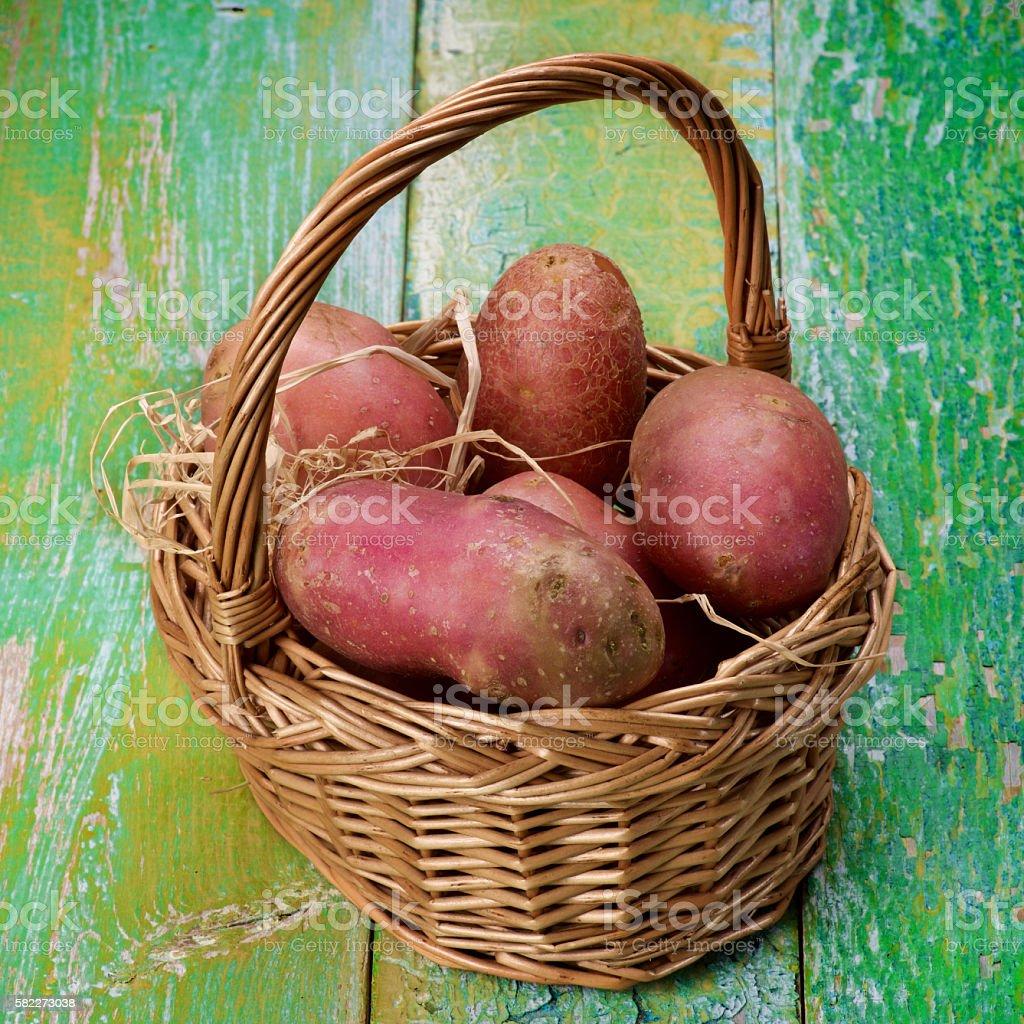 Raw Red Potatoes stock photo