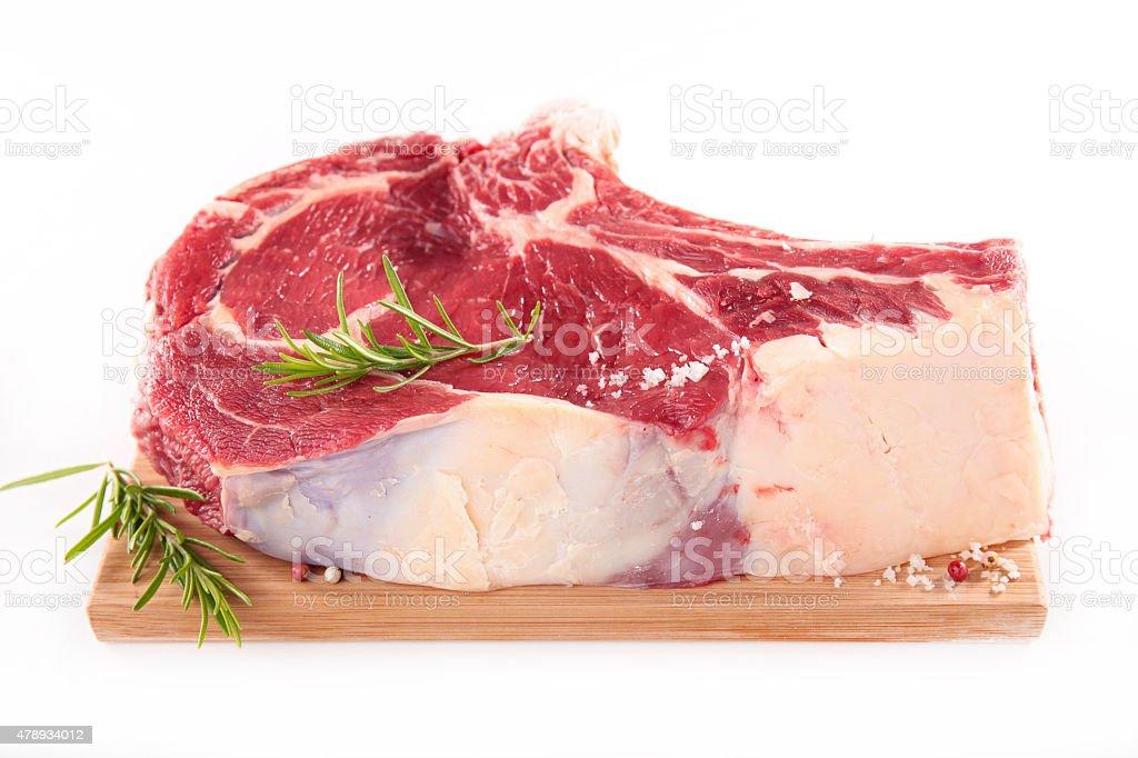 raw rib beef stock photo