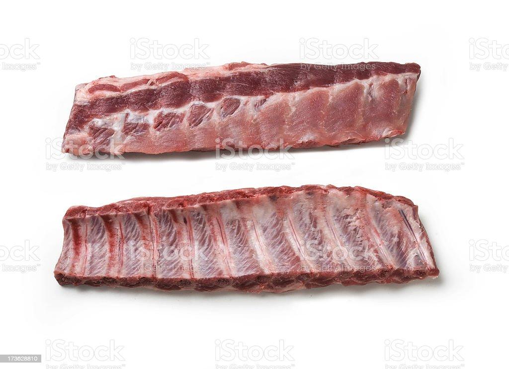raw ribs royalty-free stock photo