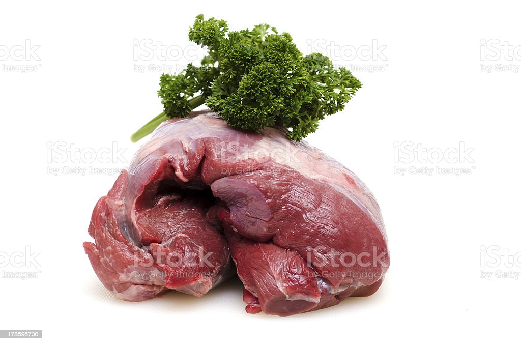 Raw roast wild boar from the shoulder stock photo