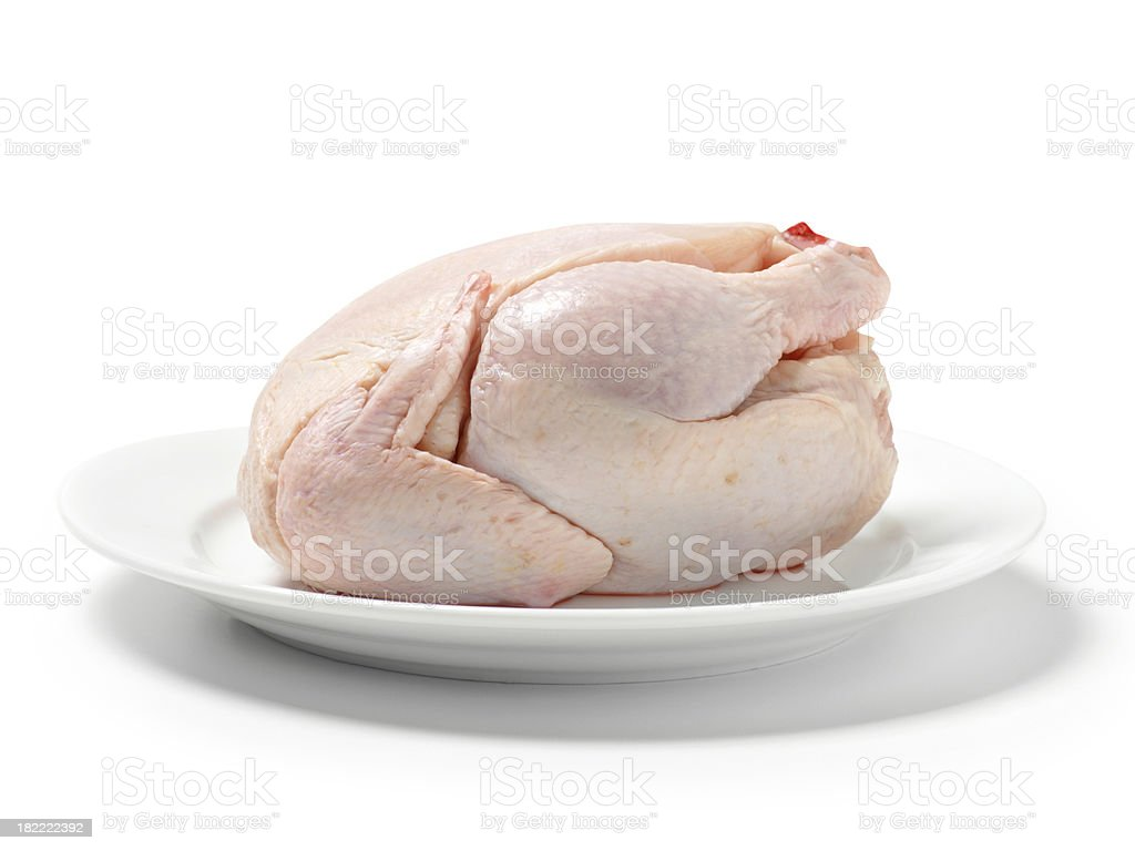 Raw, Rock Cornish Game Hen royalty-free stock photo
