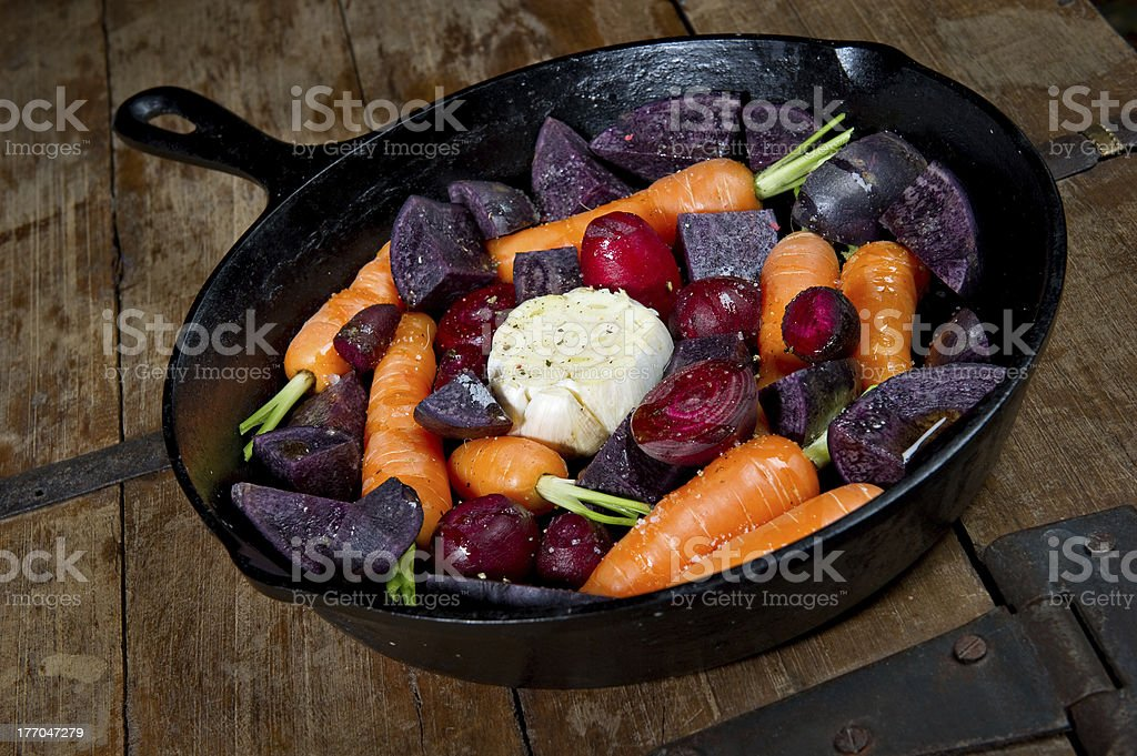 Raw Root Vegetables royalty-free stock photo