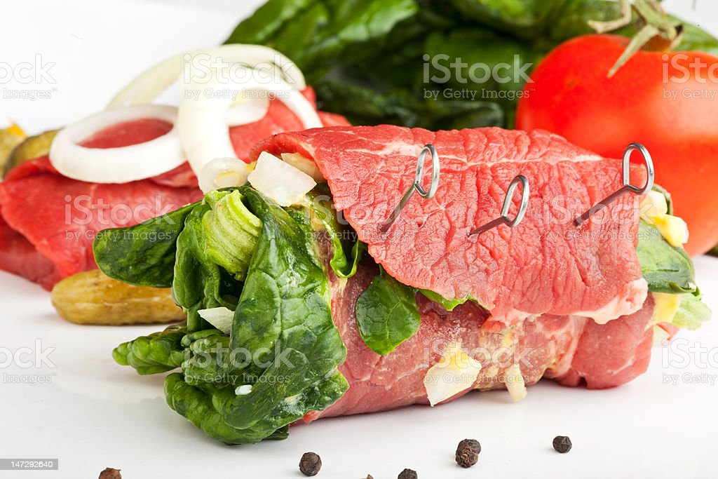 raw roulade royalty-free stock photo