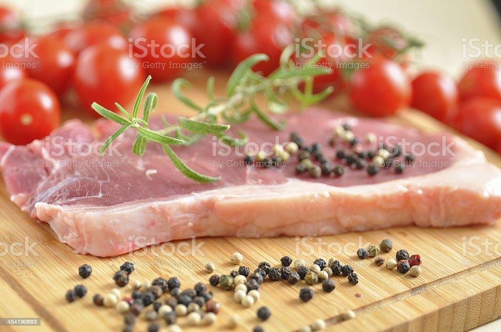 Raw Rump Steak royalty-free stock photo