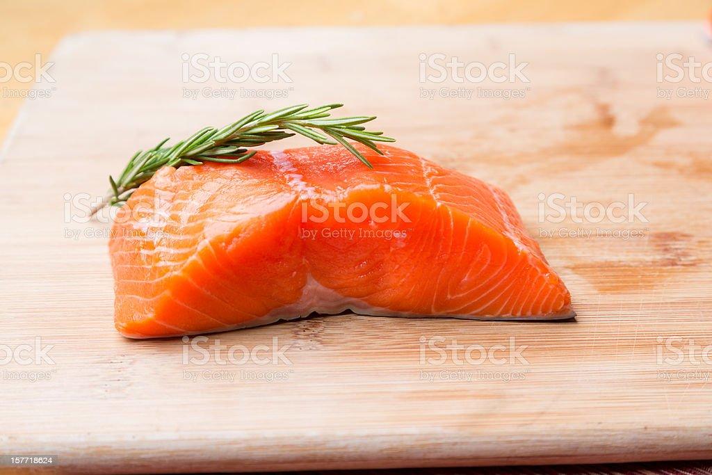 Raw Salmon Filets royalty-free stock photo