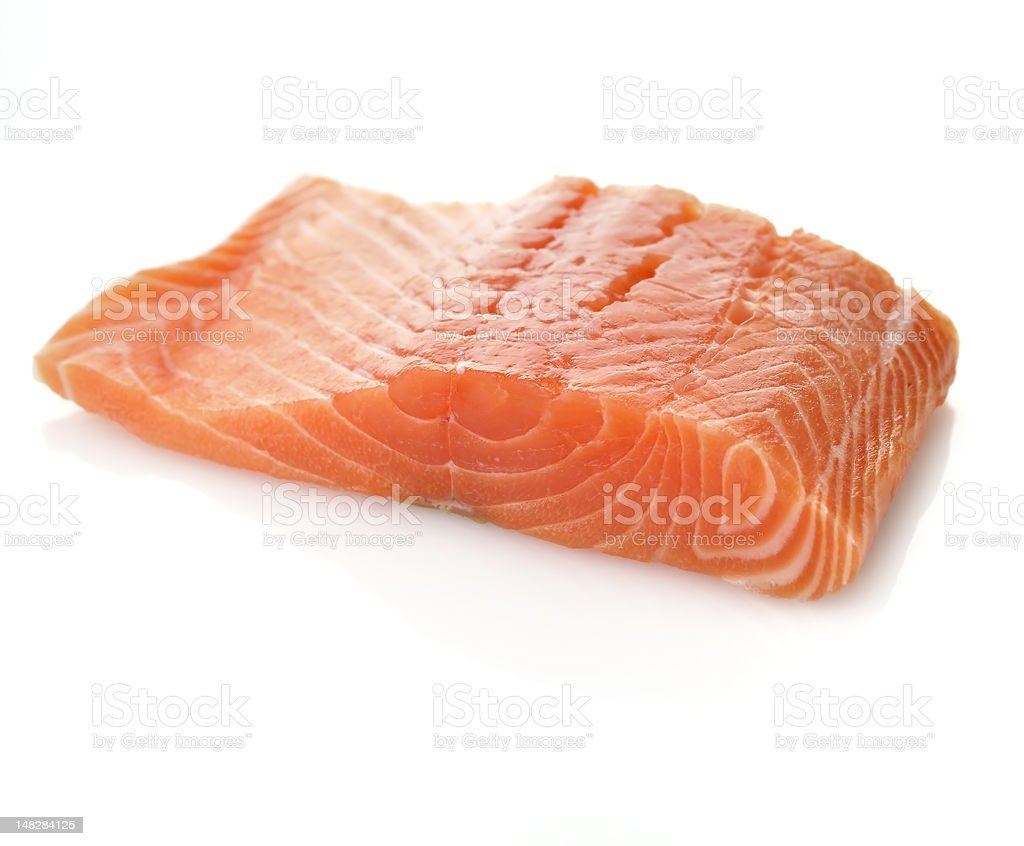 Raw Salmon Fillet stock photo