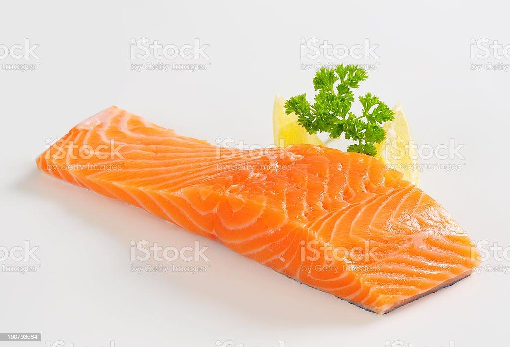 Raw salmon fillet royalty-free stock photo