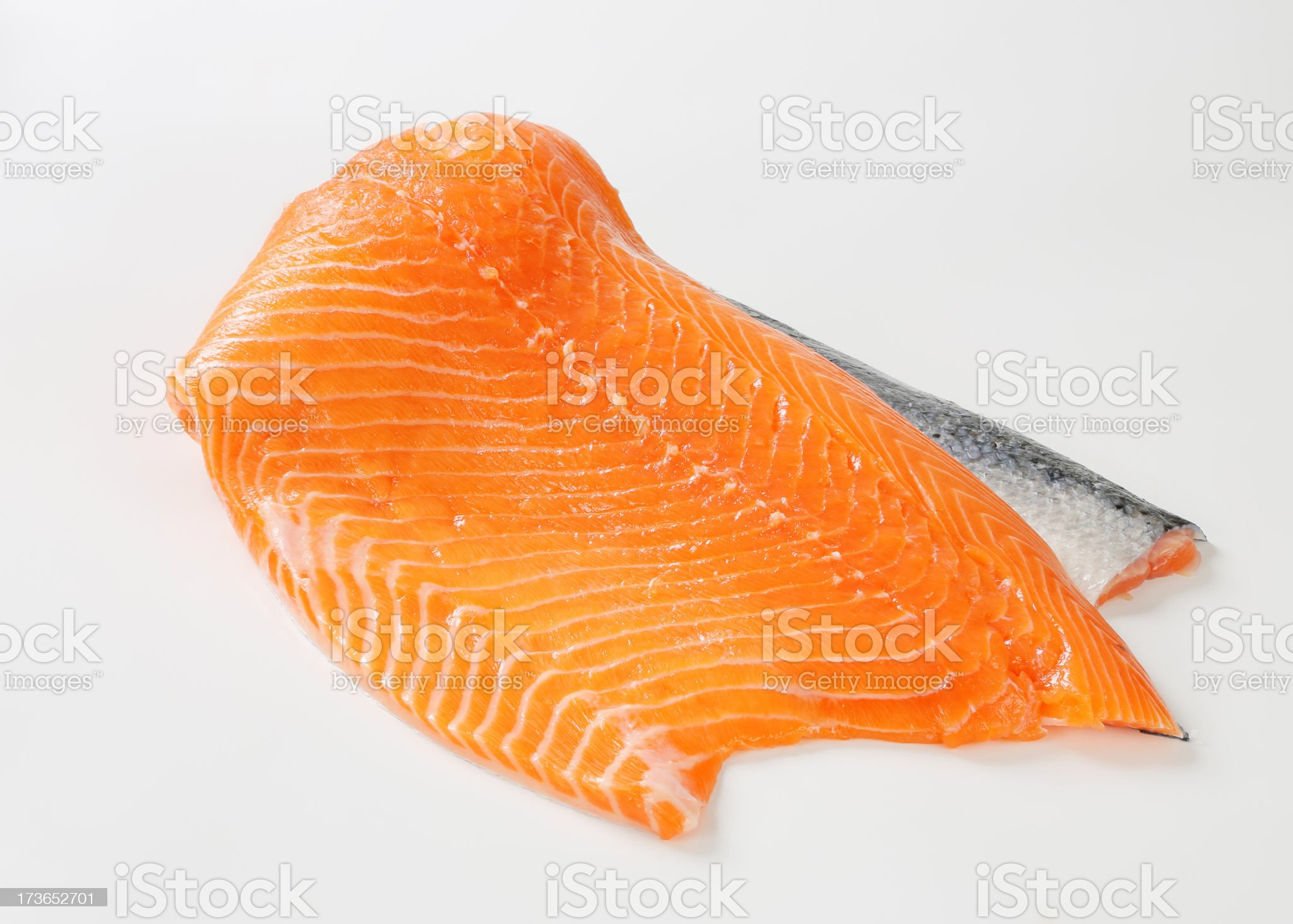 Raw salmon fillet royalty-free stock photo