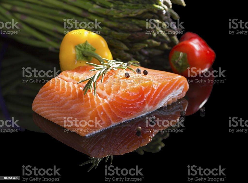 Raw salmon. royalty-free stock photo