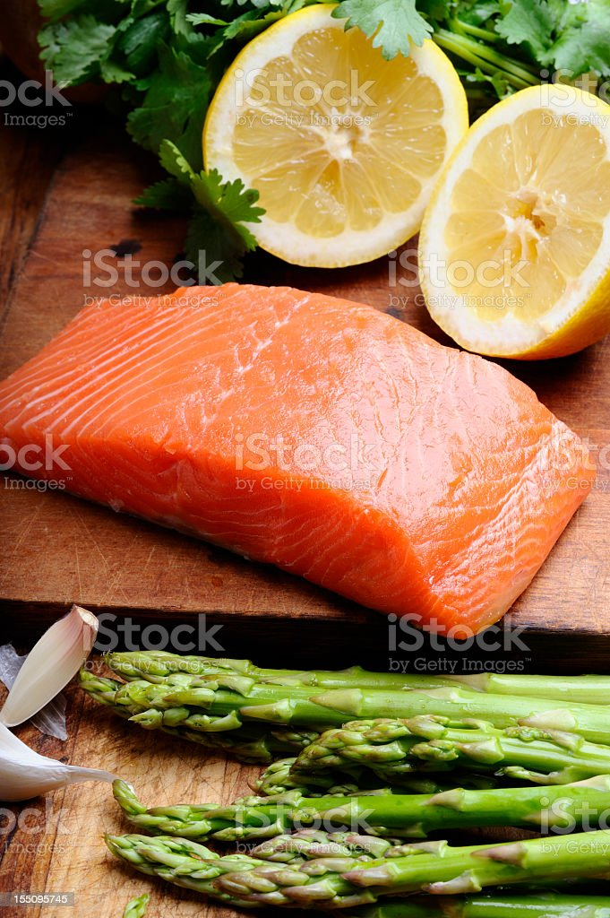 Raw Salmon Steak royalty-free stock photo