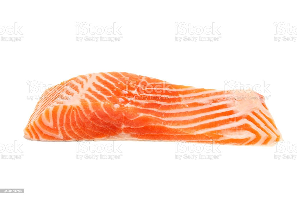 Raw sea trout fillet stock photo