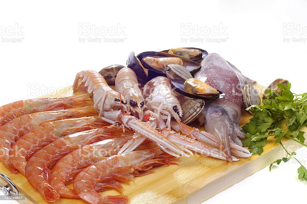 Raw seafood royalty-free stock photo