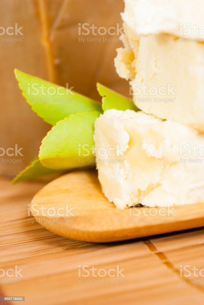 Raw shea butter stock photo