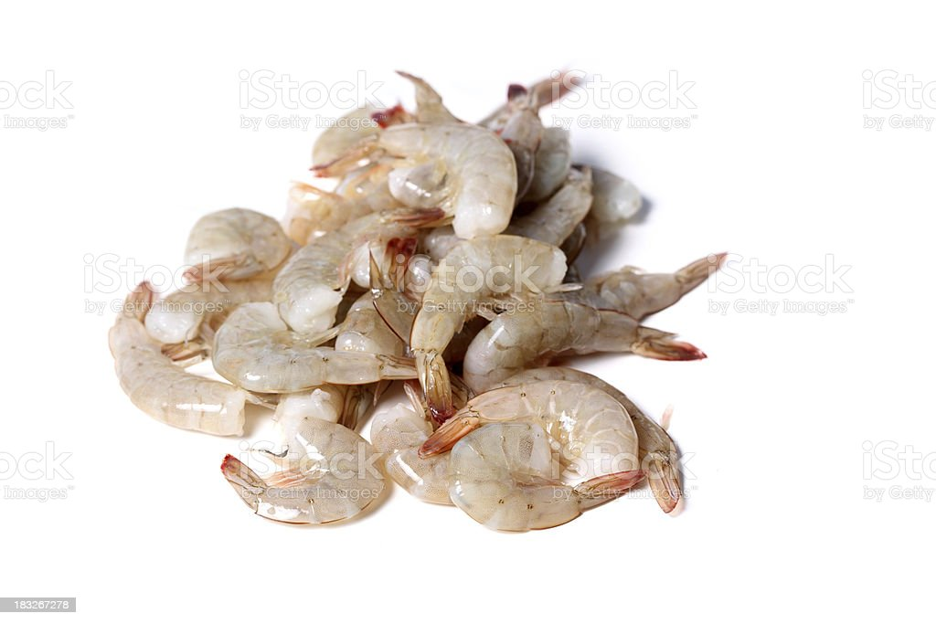 raw shrimp royalty-free stock photo
