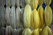 Raw silk thread
