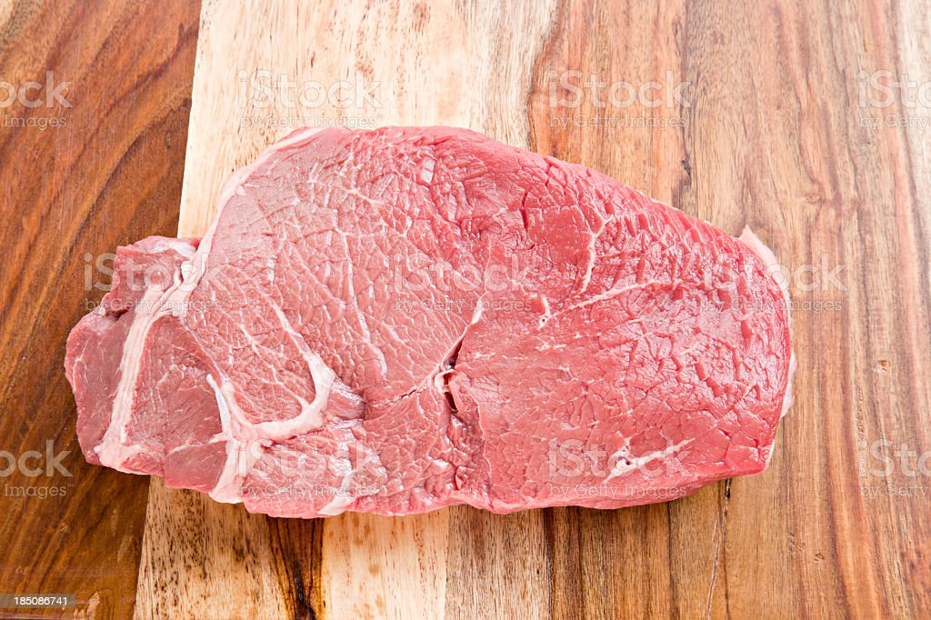 Raw Sirloin Steak stock photo