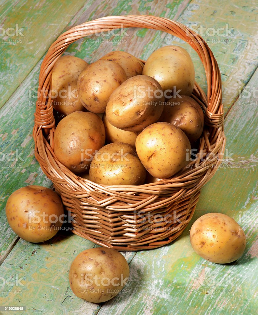 Raw Smal Potatoes stock photo