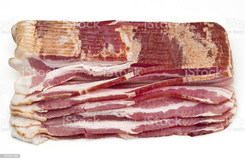 Raw Smoked Bacon Slices royalty-free stock photo