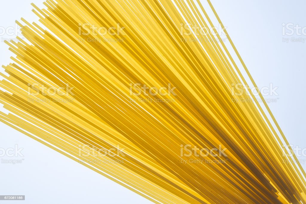Raw spaghetti pasta stock photo